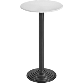 Ronde statafel, Ø 600 x H 1100 mm, lichtgrijs/zwart