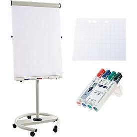 Rotafolio Business RD 617, móvil, incl. 40 hojas de papel para rotafolio y 4 rotuladores de pizarra
