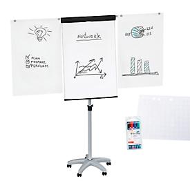 Rotafolio Maul MAULstandard, ajustable en altura, formato vertical, bloc de papel + rotuladores de varios colores