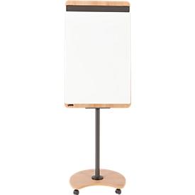 Rotafolio Rocada Natural móvil, panel de acero, marco en efecto madera, con ruedas, An 690 x Al 1150mm