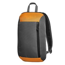 Rucksack, Grau/Orange, Standard, Auswahl Werbeanbringung erforderlich