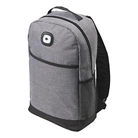 Rucksack, Schwarz/Grau, Standard, Auswahl Werbeanbringung erforderlich