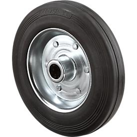 Rueda, con ruedas de goma maciza, 80 x 25 mm, capacidad de carga de 50 kg