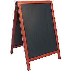 Sandwichkrijtbord met rand van mahoniehout, verschillende afmetingen, 550 x 850 mm