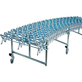 Schaar-rollenbanen, baanbreedte 500 mm, met 3 steunen