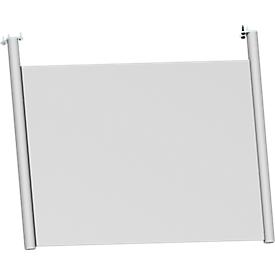 Schäfer Shop  Genius Achterwand, voor bureau B 800 mm, H 466 mm, wit aluminium