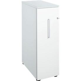 Schäfer Shop Genius Archivador alto, An 435 x P 800 x Al 1296mm, aluminio blanco/blanco