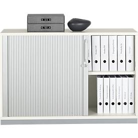 Schäfer Shop Genius Armario de persiana transversal 2 AA, An 1200 x P 421 x Al 800mm, blanco