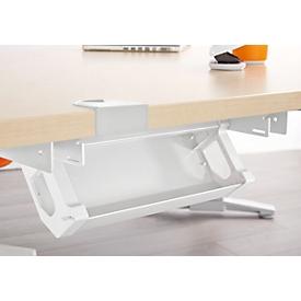 Schäfer Shop Genius Canalización de cables PLANOVA ERGOSTYLE, 318 mm, para mesa de 800 mm, blanco