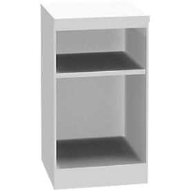 Schäfer Shop Genius Estantería de madera TETRIS SOLID, 1,5 AA, An 400mm, blanco/aluminio blanco