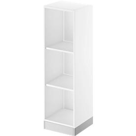 Schäfer Shop Genius Estantería de madera TETRIS SOLID, 3 AA, An 400mm, blanco/aluminio blanco