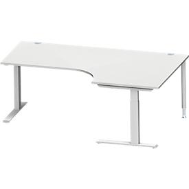 Schäfer Shop  Genius Hoekbureautafel MODENA FLEX 90°, C-poot rechthoekige buis, B 2000 mm, aanbouw rechts,