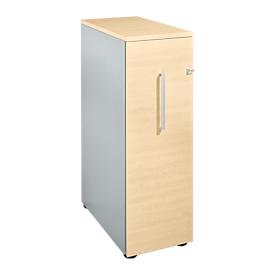 Schäfer Shop  Genius Hoog ladeblok, B 435 x D 800 x H 1296 mm, esdoornpatroon/blank aluminium