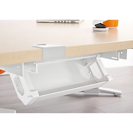 Schäfer Shop  Genius Kabelgoot PLANOVA ERGOSTYLE, 318 mm, voor tafel 800 mm breed, wit