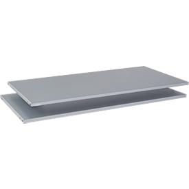 Schäfer Shop  Genius Legborden voor TETRIS SOLID-schuifdeurschroeven B 1200 mm/kruisrolluikschroeven B 800 mm, wit aluminium, 2 stuks