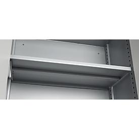 Schäfer Shop Genius Miembro horizontal de estante TETRIS SOLID, para armarios, 800mm, aluminio blanco