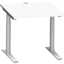 Schäfer Shop Genius Schreibtisch MODENA FLEX, 800 x 800 mm, weiß