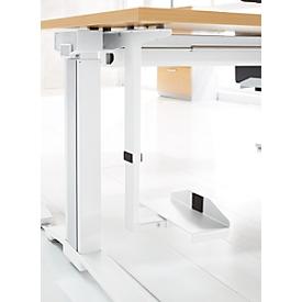 Schäfer Shop Genius Soporte de CPU para el escritorio e PLANOVA ERGOSTYLE, ajustable en anchura y altura, acero con recubrimiento de polvo, blanco