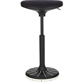 Schäfer Shop Genius Taburete/apoyo de pie SSI PROLINE P 3-D, ergonómico, suela patentada, negro/negro-blanco