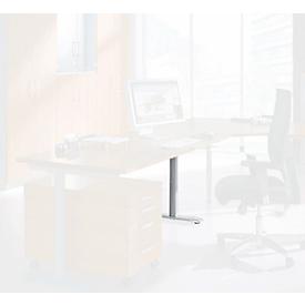 Schäfer Shop Genius Tischfuß, verkürzt, aus Stahl, passend zum Tischsystem MODENA FLEX (C-Fuß/T-Fuß-Gestell)