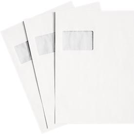 Schäfer Shop Genius Versandtaschen, Fenster, haftklebend, 90 g/m², DIN C4, 250 Stück, chlorfrei-weiß