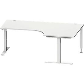 Schäfer Shop Genius Winkelschreibtisch MODENA FLEX 90°, T-Fuß-Rechteckrohr, B 2000 mm, Ansatz rechts,