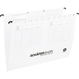SCHÄFER SHOP hangmappen, voor formaten tot A4, opening aan de zijkant, wit