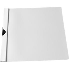 SCHÄFER SHOP Klemmmappe CLIP, DIN A4, Kunststoff, mit Clip, weiß