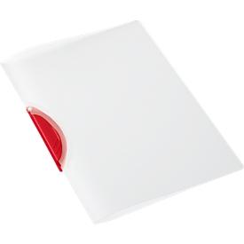 SCHÄFER SHOP Klemmmappe Swing S, DIN A4, PP, mit Clip, rot