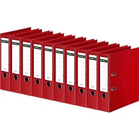 SCHÄFER SHOP ordner, A4, rugbreedte 80 mm, 10 stuks, rood