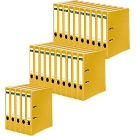 SCHÄFER SHOP Ordner, DIN A4, Rückenbreite 50 mm, 25 Stück, gelb
