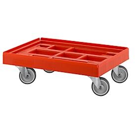 Schäfer Shop Pure Logistik-Roller, 610 x 410 mm, rot RAL 3000
