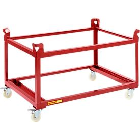 Schäfer Shop  Pure Palletonderstel op wielen, 1210 x 810 mm, rood