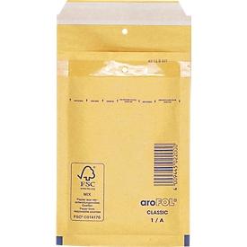 Schäfer Shop Pure Sobre acolchado, amarillo dorado, 200 unidades, 95x165 mm/120x175 mm
