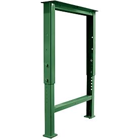 Schäfer Shop Pure Soporte de pie para tablero de trabajo, ajustable en altura, P 665mm, verde