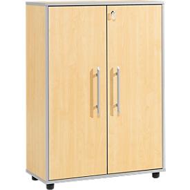 Schäfer Shop Select Aktenschrank Moxxo IQ, Holz, 2 Böden, 3 OH, B 801 x T 362 x H 1115 mm, abschließbar, Ahorn-Dekor