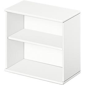 Schäfer Shop Select Ansatz-/Aufsatz-Regal LOGIN, 2 Ordnerhöhen, B 800 x T 420 x H 726 mm, weiß