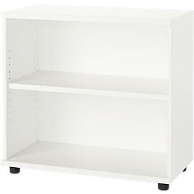 Schäfer Shop Select Anstellregal, aus Holz, 2 Fachböden, B 800 mm x T 421 x H 750 mm, weiß
