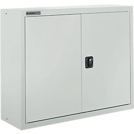 Schäfer Shop Select Armario archivador  MSI 8408, An 800 x P 400 x Al 800mm, 3 estantes, acero, gris luminoso RAL 7035