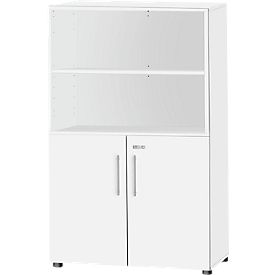 Schäfer Shop Select Armario combinado Start Up, 4 AA, con cerradura, An 800 x P 420 x Al 1470mm, madera, blanco/blanco