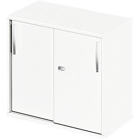 Schäfer Shop Select Armario de extensión/superior de puertas correderas LOGIN, 2 alturas de archivo, An 800 x P 420 x Al 726mm, blanco/blanco
