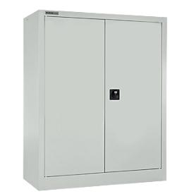 Schäfer Shop Select Armario de puertas batientes MS iCONOMY, acero, 3 alturas de archivo, An 800 x P 400 x Al 1215mm, gris luminoso RAL 7035