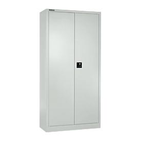 Schäfer Shop Select Armario de puertas batientes MS iCONOMY, acero, 5 alturas de archivo, ancho 800 x fondo 400 x alto 1935 mm, gris claro