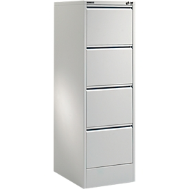 Schäfer Shop Select Armario para archivadores colgantes MS iCONOMY, acero, 1 carril, marco abierto, An 425mm, gris luminoso RAL 7035