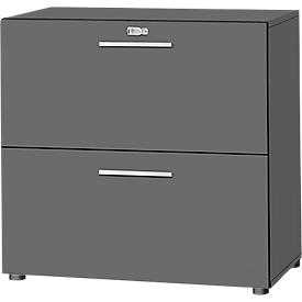 Schäfer Shop Select Armario para archivadores colgantes SET UP, 2 archivadores colgantes extraíbles, con cerradura, An 800 x P 420 x Al 744mm,