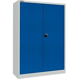 Schäfer Shop Select Armario para materiales MS 2512, con cajones, Al 1935mm, gris luminoso/azul genciana