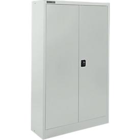 Schäfer Shop Select Armario para materiales  MSI 16408, An 800 x P 400 x Al 1535mm, 3 estantes, acero, gris luminoso RAL 7035
