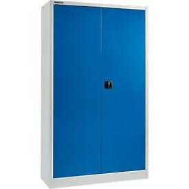 Schäfer Shop Select Armario para materiales  MSI 2412, acero, 1200 x 400 x 1935mm, gris luminoso/azul genciana