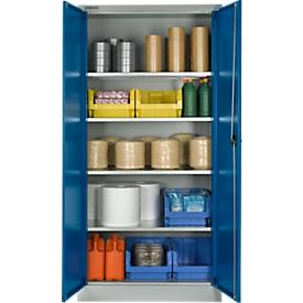 Schäfer Shop Select Armario para materiales MSI 2609, cap. carga 50kg por estante, Al 1935mm, gris luminoso/azul genciana