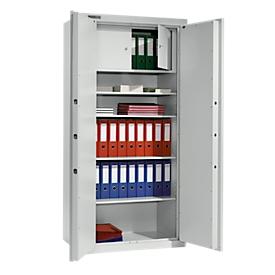 Schäfer Shop Select Armarios de acero TS 2, 4 estantes, sin compartimento interior